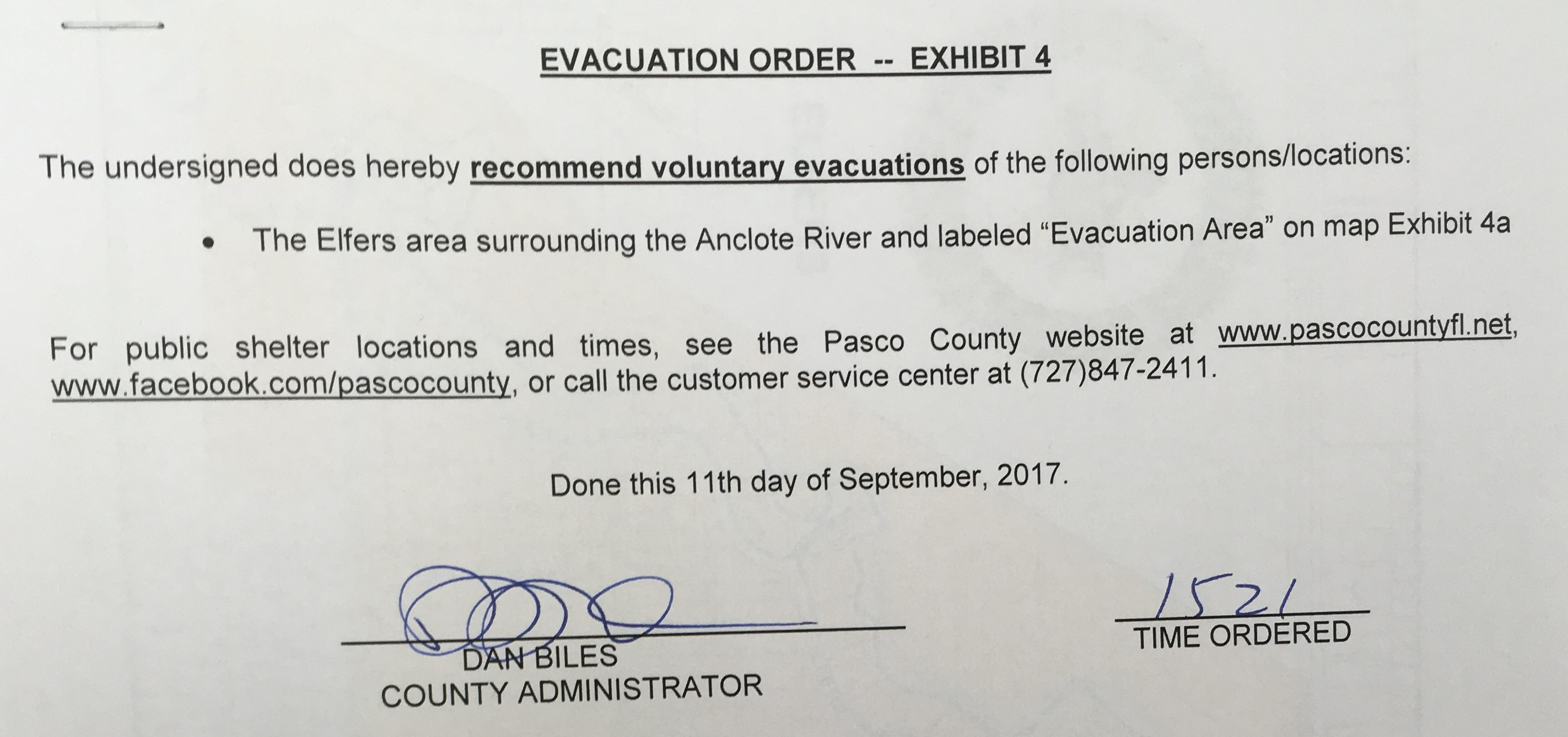 Announcements pasco county issues evacuation for anclote river area fandeluxe Gallery
