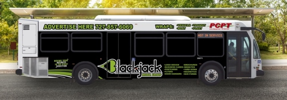 BlackJack Advertisement on Bus