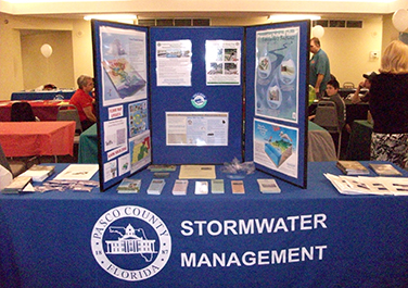 Stormwater Management Display at a County Event