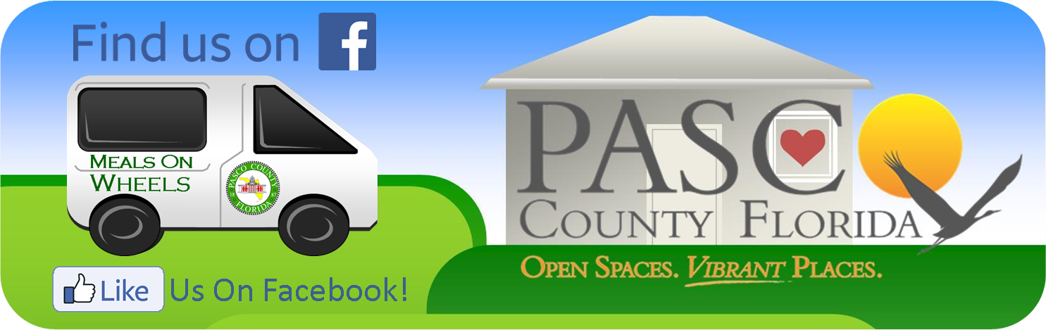 Pasco County Logo and facebook link