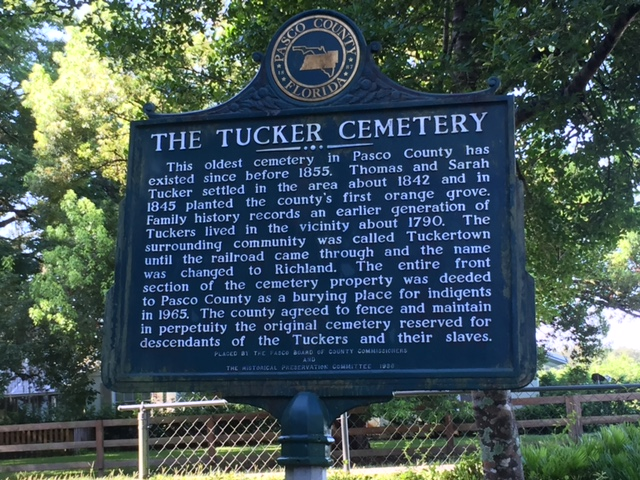 Tucker Cemetery Plaque