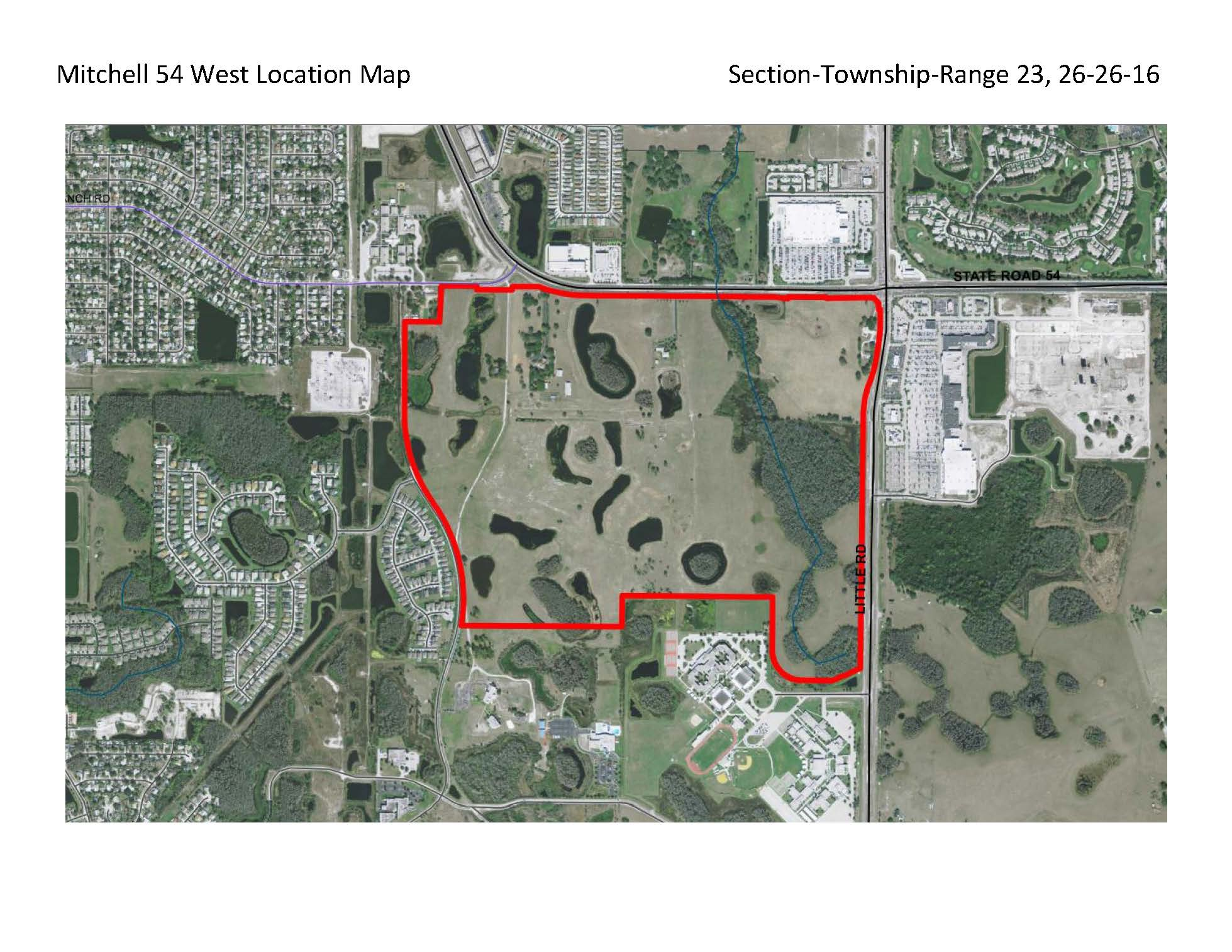 Mitchell 54 West Location Map