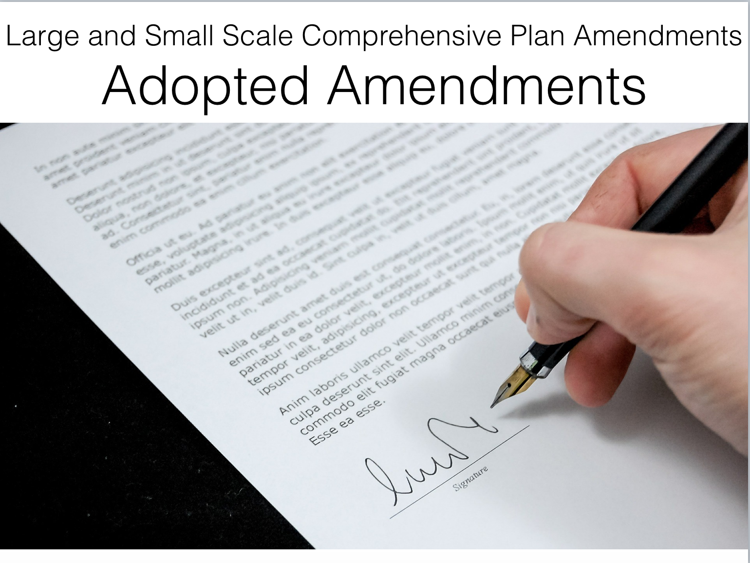 Large and Small Scale Comprehensive Plan Amendments Adopted Amendments