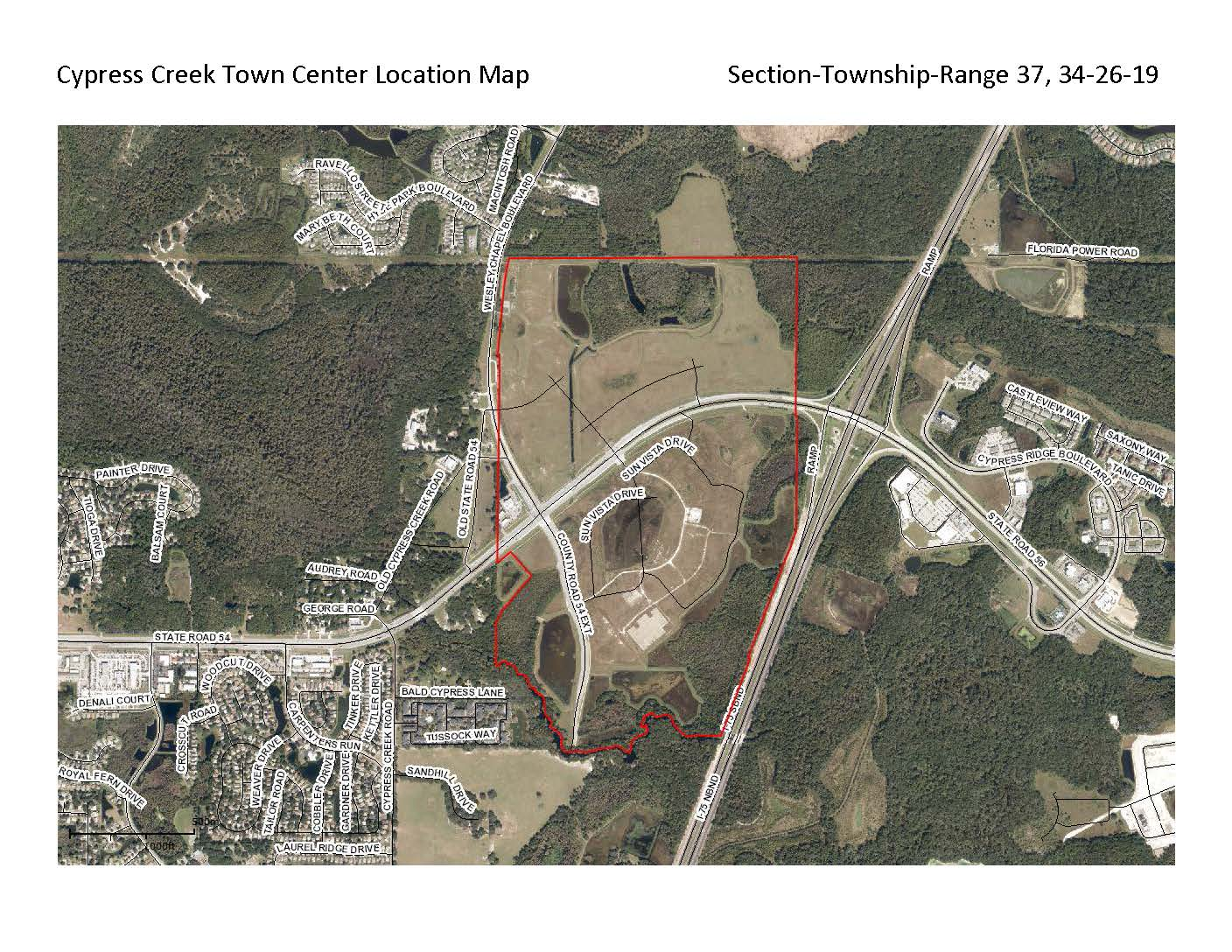 Cypress Creek Town Center Location Map