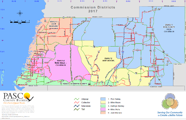 Pasco County Zoning Map County Commissioners | Pasco County, FL   Official Website