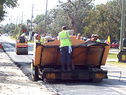 Picture of Workers Paving a County Road