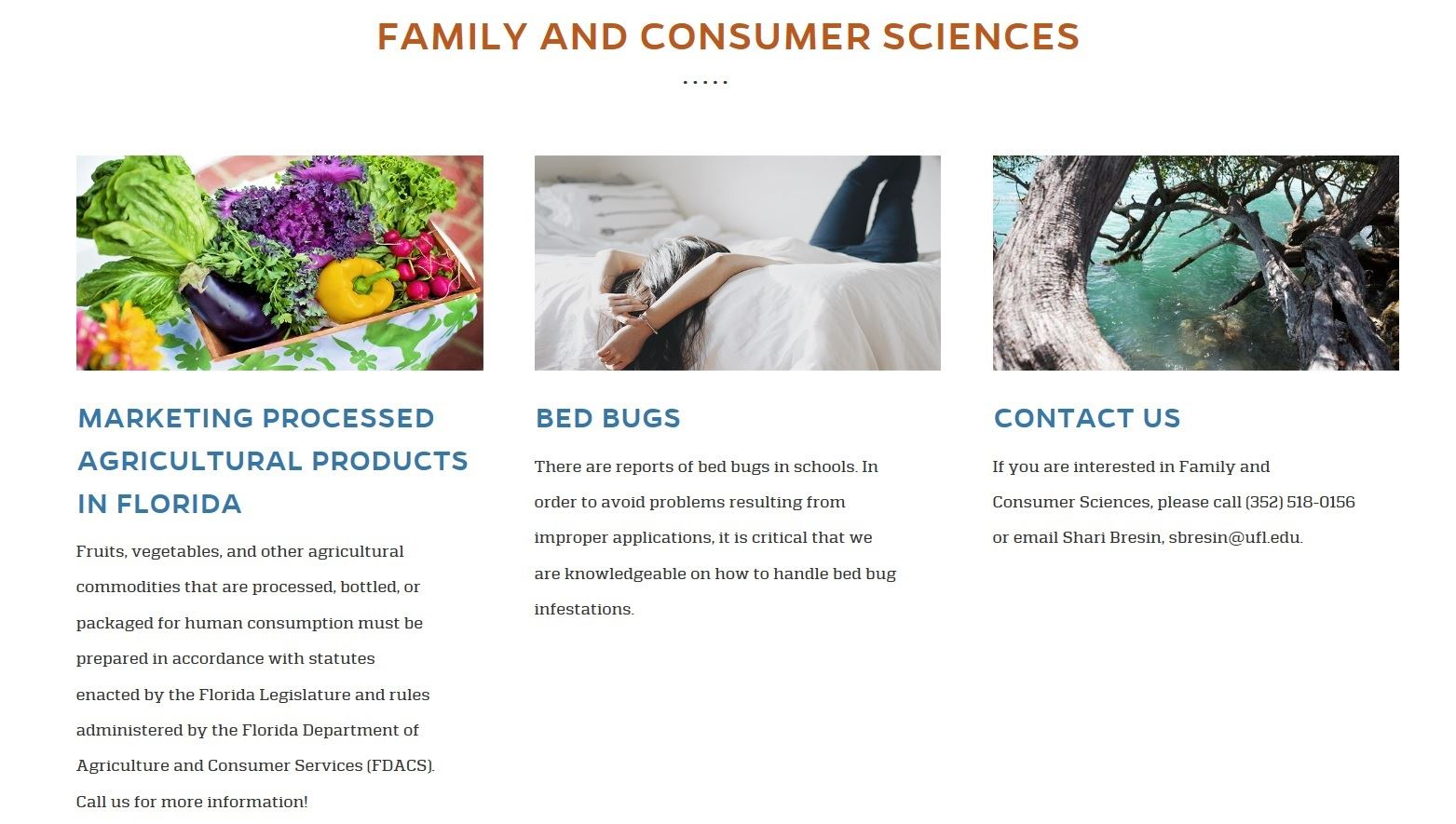 Family and Consumer Sciences Shari - Website