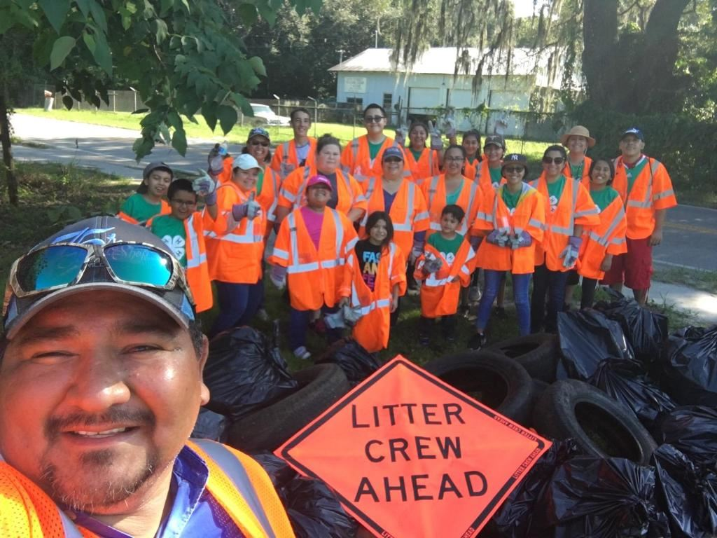 4H Unidos Community Cleanup - Dade City