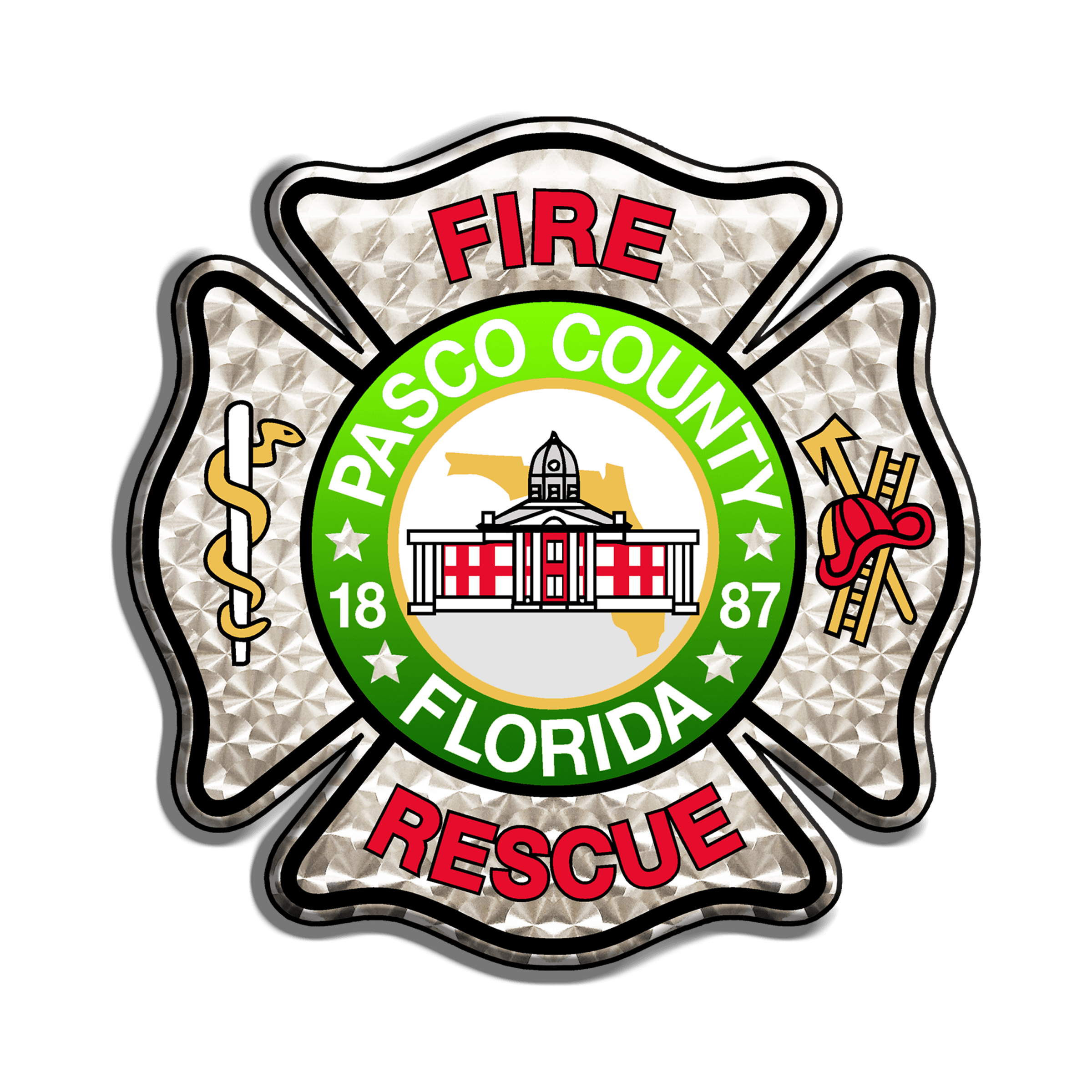 Fire Rescue Door Shield Logo