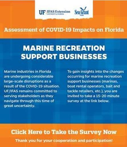 UF Survey Marine Recreation Support Businesses Flyer