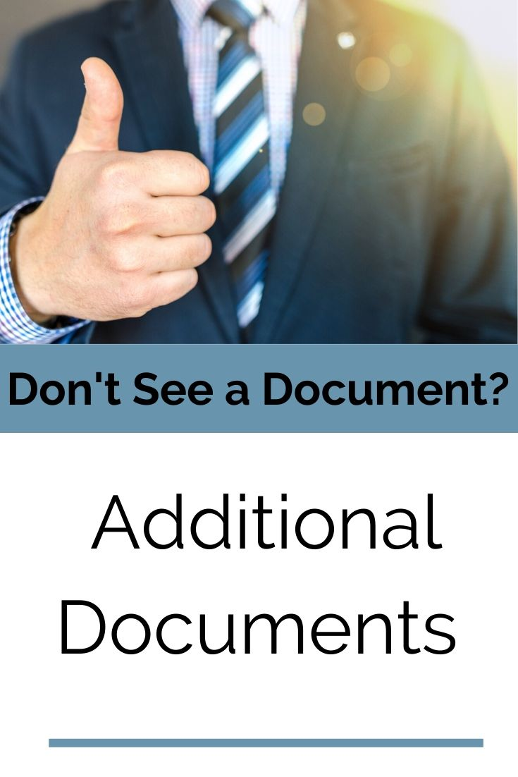 Additional Documents button