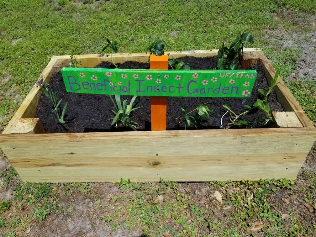 San Antonio Community Garden - Beneficial Insect Garden Sign and Plot