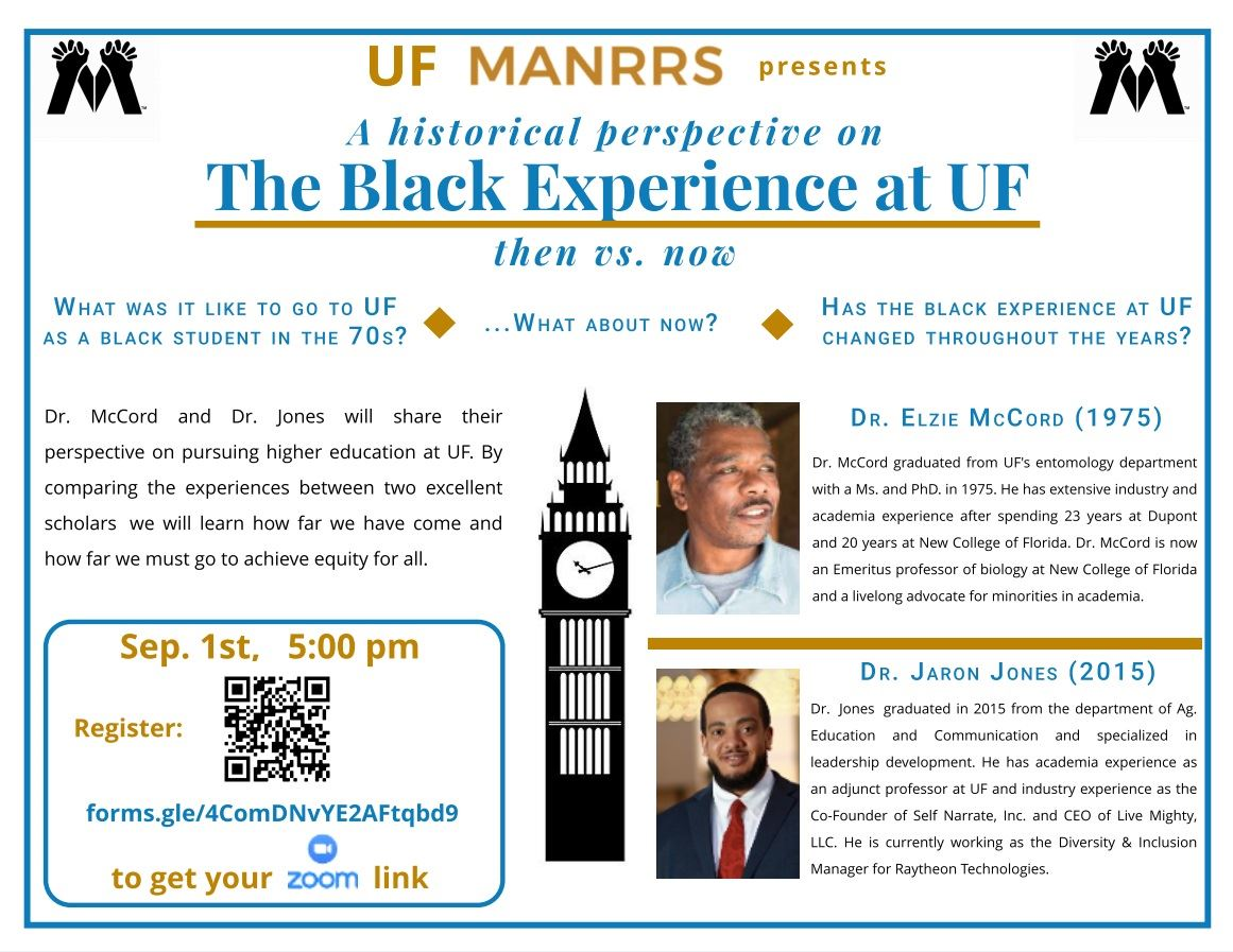 Sep 1st Flyer A Historical Perspective on The Black Experience at UF