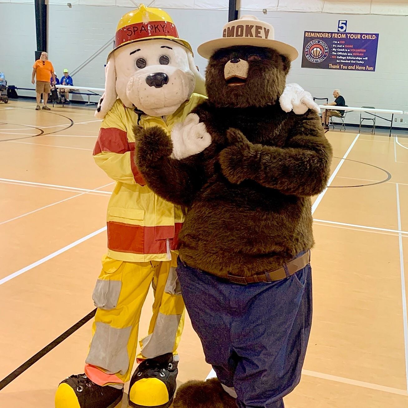 Smokey and Sparky at Disaster Expo
