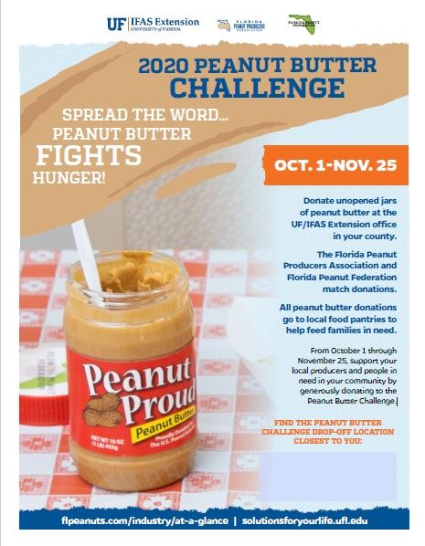 Peanut Butter Challenge Flyer with Information