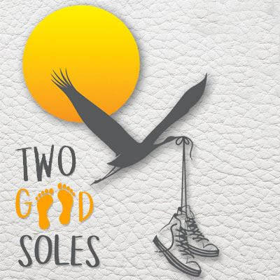 Two Good Soles with pasco county logo bird with shoes in mouth