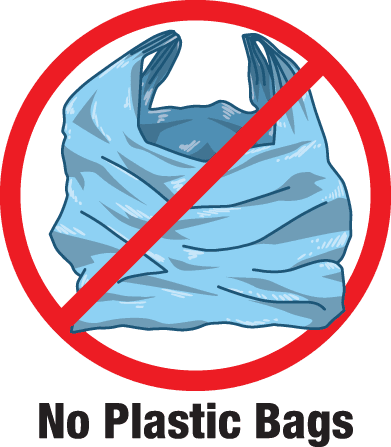 Plastic Bags are not allowed in recycling
