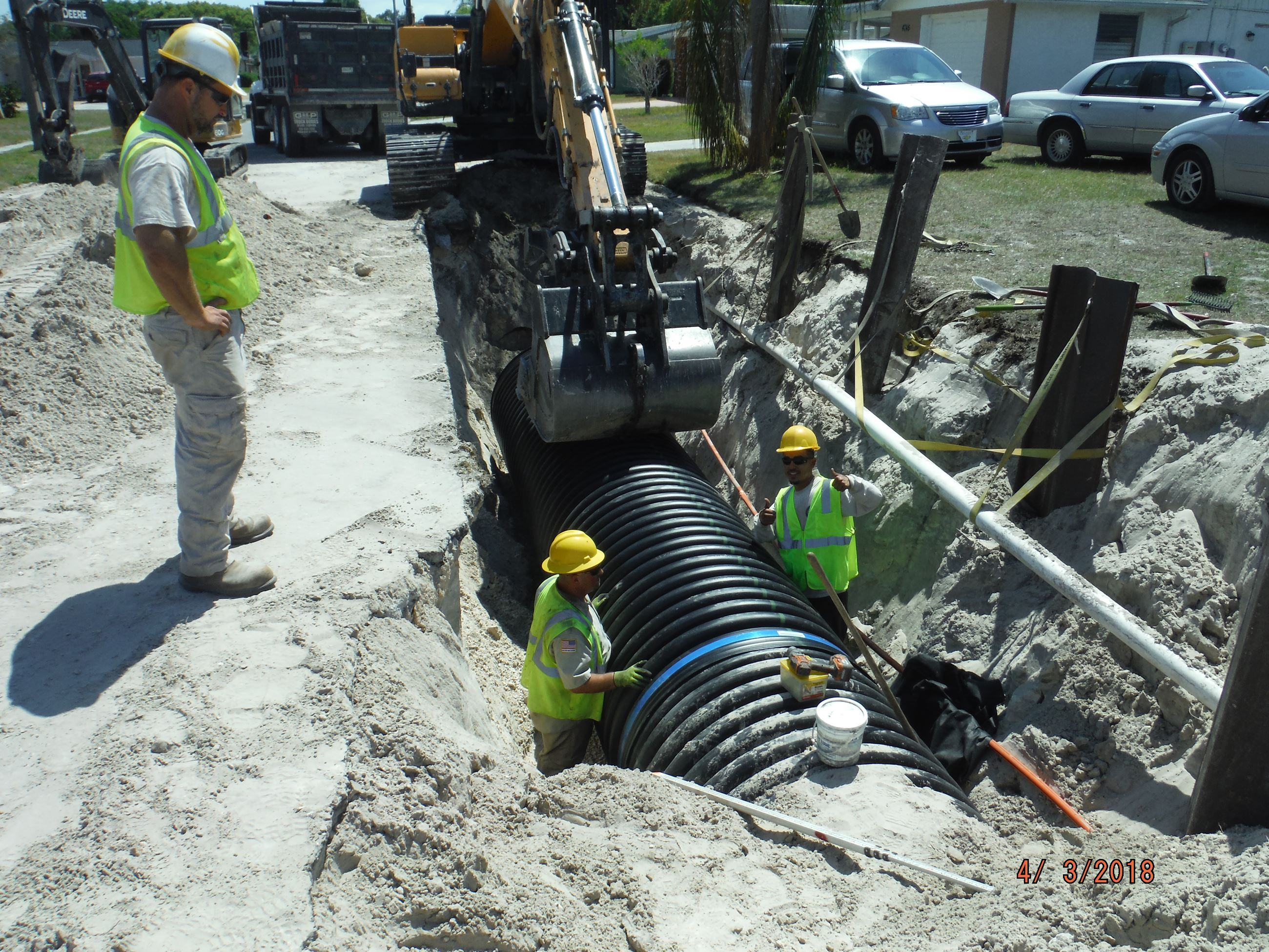 Photo of a pipe replacement project
