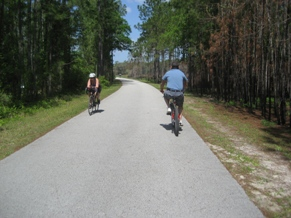 Cyclists on Trail