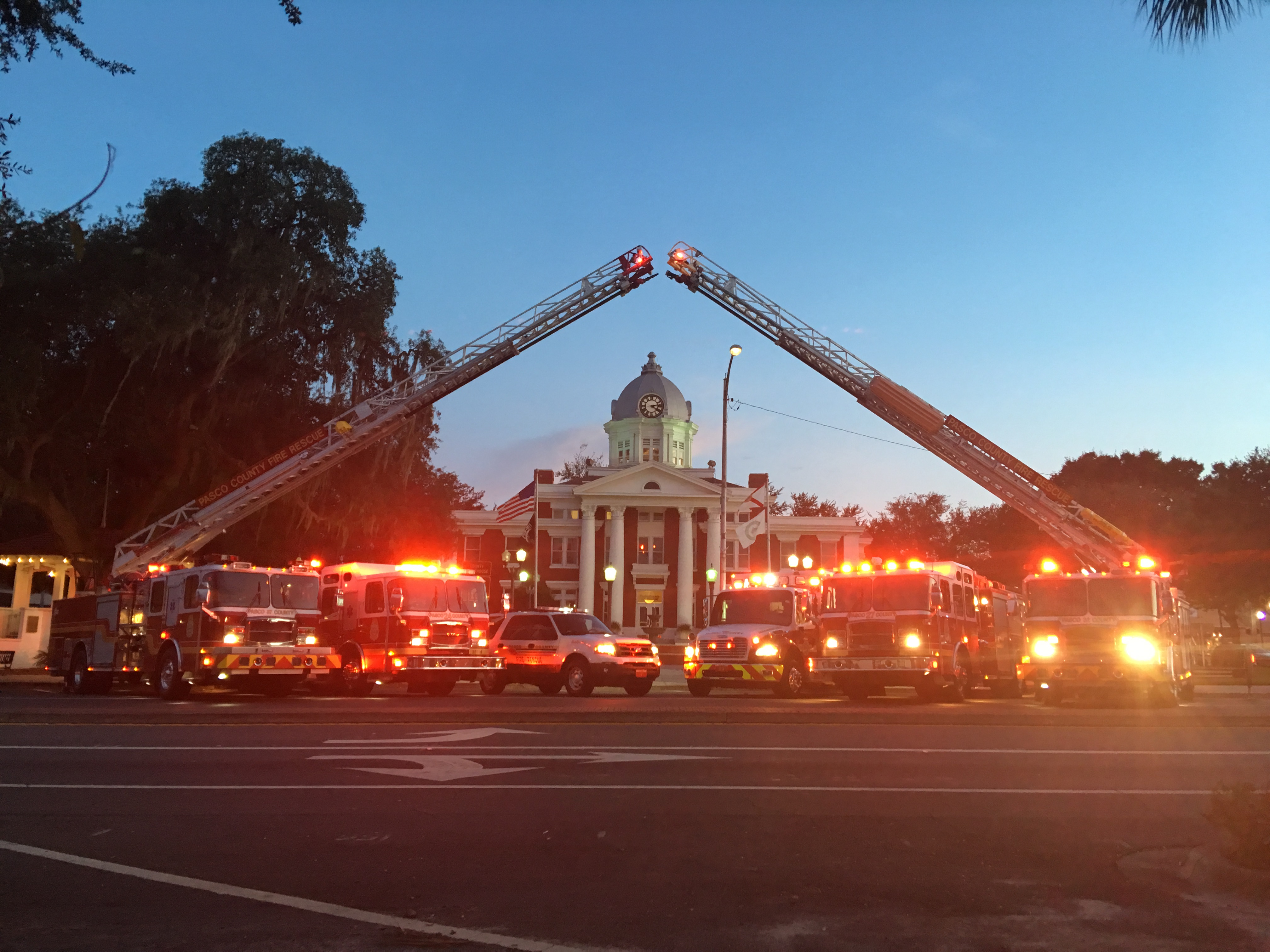 Fire Trucks and Old Pasco County Courthouse