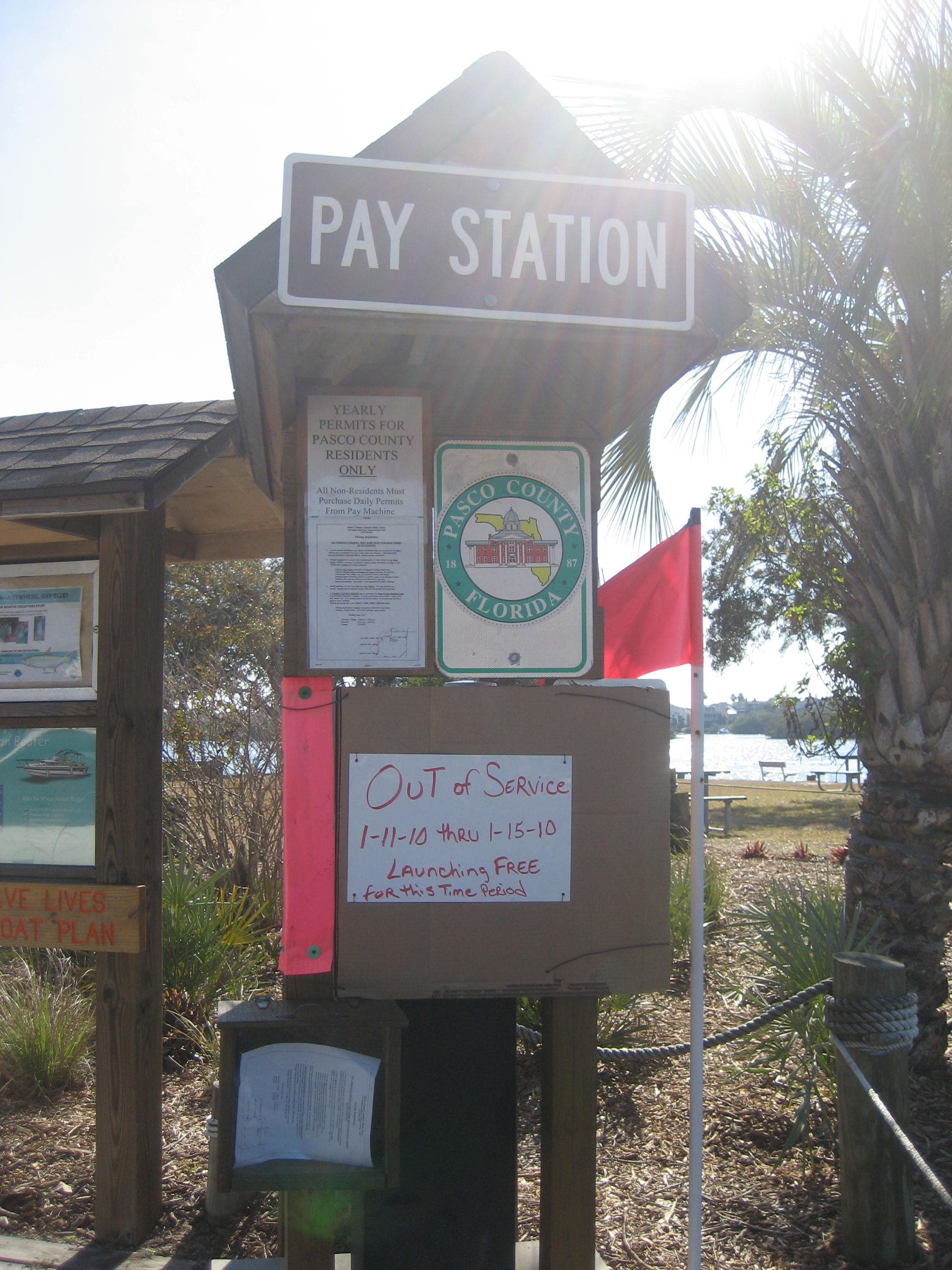 Pay Station for Boat Parking