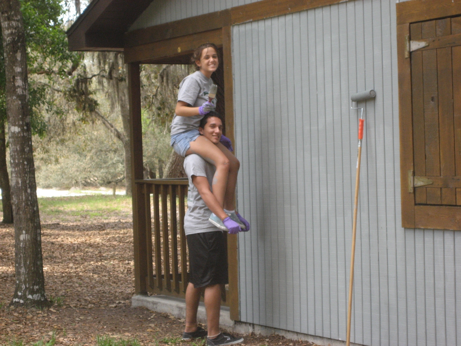 Painting Cabin at Spruce Up Starkey