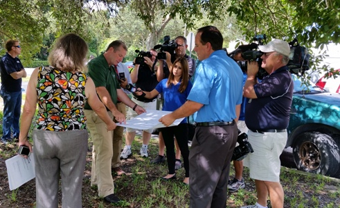 Pasco County Public Information Officer, Doug Tobin, discussion County actions to alleviate flooding in the Bass Lake Watershed (Aug 17, 2015)