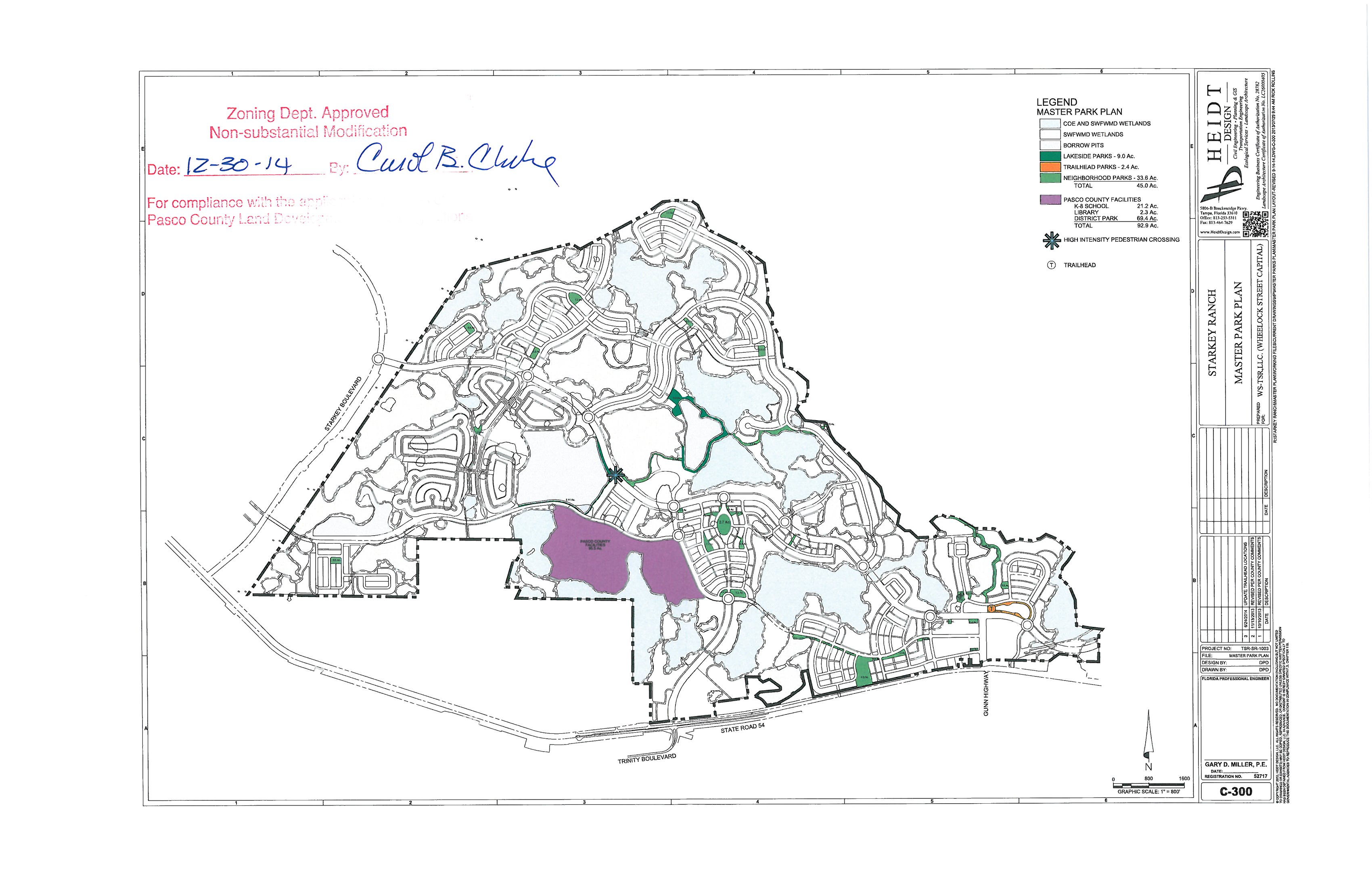 Starkey Ranch Park Plan