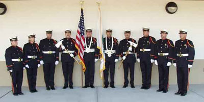 The Pasco County Honor Guard.